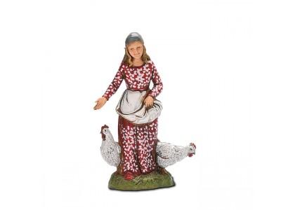 Donna con polli