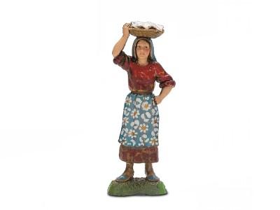 Donna con cesta